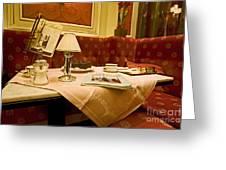 Cafe Sacher - Vienna Greeting Card