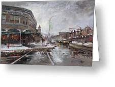 Caffe Aroma In Winter Greeting Card