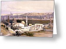 Cairo From The Gate Of Citizenib  Looking Toward The Desert Of Suez Greeting Card