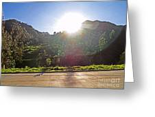 Cajas Mountains Sunset  Ecuador Greeting Card