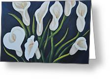 Cala Lilies Greeting Card by Holly Donohoe