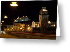Calahorra Cathedral At Night Greeting Card