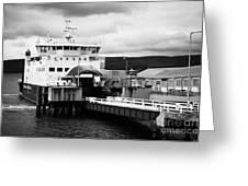 Caledonian Macbrayne Rothesay Ferry At Wemyss Bay Scotland Uk Greeting Card