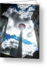 Calgary Tower Hdr Greeting Card
