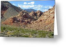 Calico Basin View Greeting Card