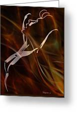 Caliente On Fire Greeting Card