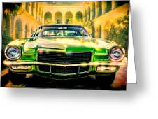 California 1970 Camaro Greeting Card