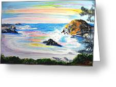 California Coast Greeting Card by Susan  Clark