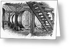 California: Winery, C1890 Greeting Card