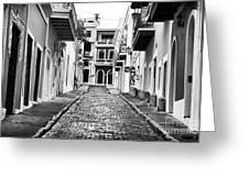 Calle De Guijarro Greeting Card