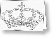 Calligraphy Crown Greeting Card