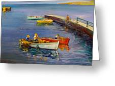 Calm Day Greeting Card by George Siaba