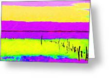 Calm Morning Waters In Abstract 2 Greeting Card