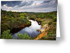 Calm River Greeting Card by Carlos Caetano