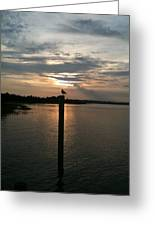 Calm Sunset Greeting Card