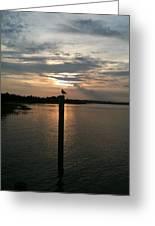 Calm Sunset Greeting Card