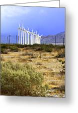 Calm Wind Palm Springs Greeting Card