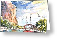 Calpe Harbour 04 Greeting Card