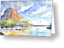 Calpe Harbour 06 Greeting Card