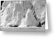 Calving Glacier In Black And White Greeting Card
