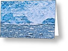 Calving Glacier Greeting Card