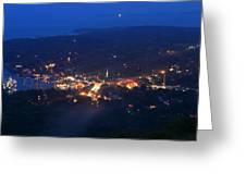 Camden Hills Mount Battie Dusk View Greeting Card