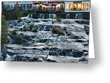 Camden Maine Waterfalls Greeting Card