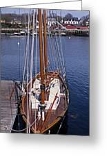 Camden Tall Ship Greeting Card