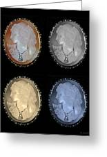 Cameo In Quad Colors Greeting Card