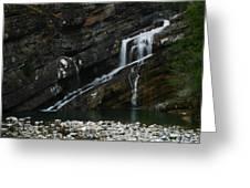 Cameron Falls Waterton Lakes National Park Greeting Card