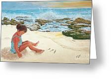 Camila And The Carribean Sea Greeting Card