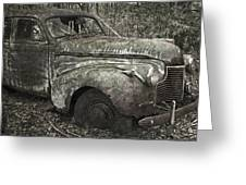 Camouflage Classic Car Greeting Card