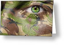 Camouflage Warrior Greeting Card