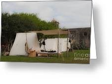 Camp At Goliad Greeting Card