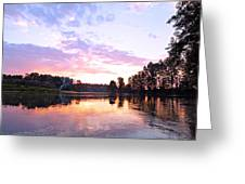 Camp Fire Sunset Greeting Card