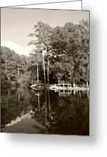 Camp Lake Greeting Card