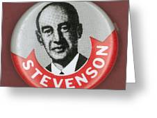 Campaign Button Greeting Card