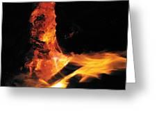 Campfire Apparition  Greeting Card