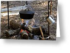 Campfire Cooking Greeting Card