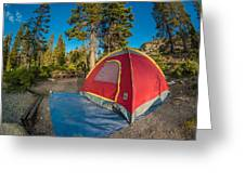 Camping In The Forest Greeting Card