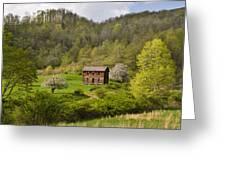 Canaan Valley West Virginia Cabin Greeting Card