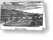Canada: Farm, C1820 Greeting Card