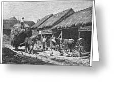 Canada: Farming, 1883 Greeting Card