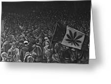 Canadian Marijuana Demonstration Greeting Card