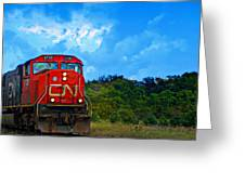 Canadian Northern Railway Train Greeting Card