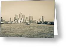 Canary Wharf Cityscape Greeting Card