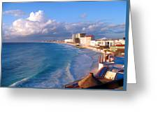 Cancun Waters Greeting Card
