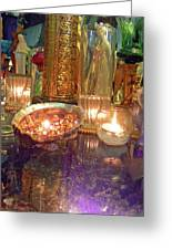 Candle Light Reflections  Greeting Card