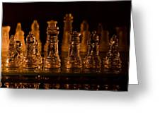 Candle Lit Chess Men Greeting Card