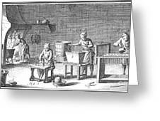 Candlemaking, 18th Century Greeting Card